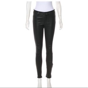 J Brand Mid-Rise 100% Leather Pants